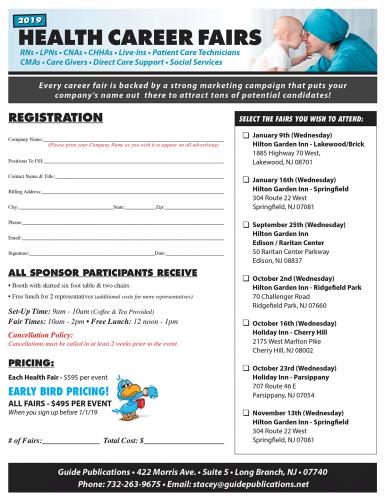 2019 Healthcareer Fair Registration